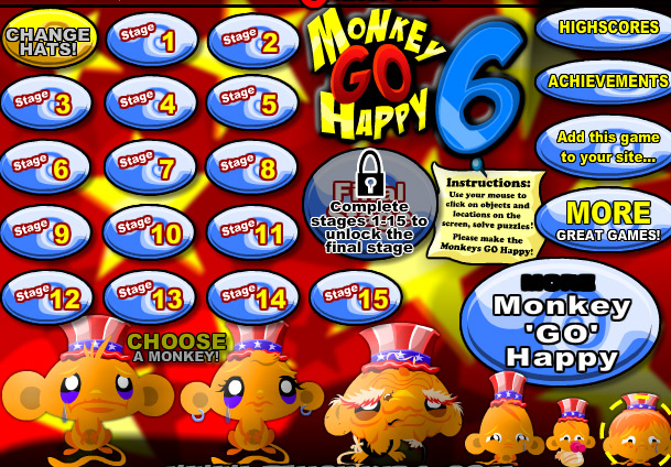 moncky go happy